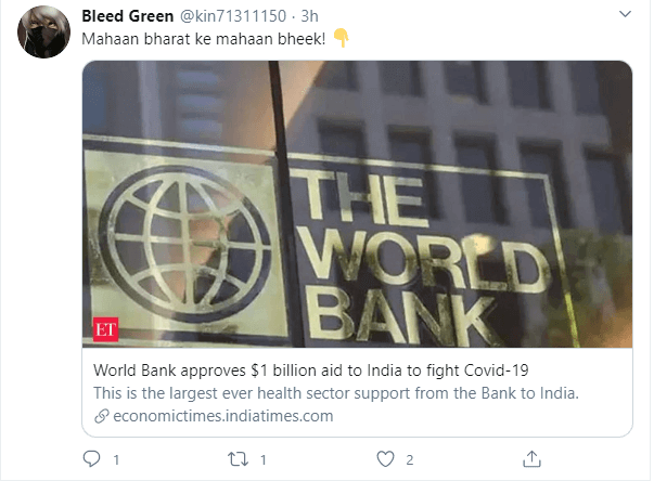 world bank approves 1 billion for India